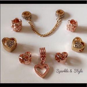 ✨ Gold and rose gold tone bracelet charm set ✨